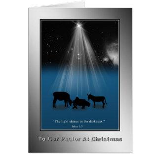 Christmas, Pastor, Religious, Nativity, Card