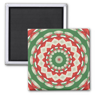 Christmas Patchwork Square Magnet