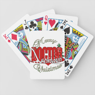 CHRISTMAS PATHOLOGIST DOCTOR BICYCLE PLAYING CARDS