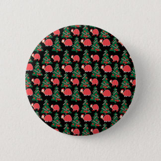 Christmas pattern 6 cm round badge