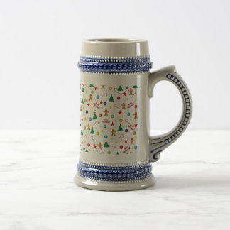 Christmas pattern beer stein