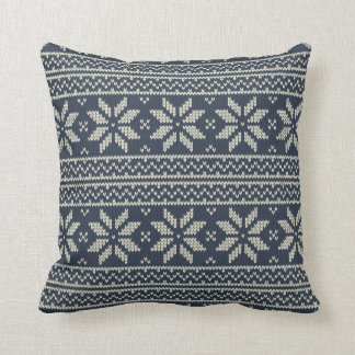 Christmas Pattern Blue Cushion
