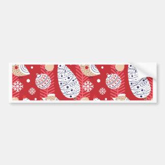 Christmas-pattern Bumper Sticker