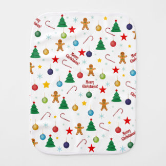 Christmas pattern burp cloth