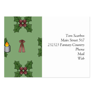 christmas pattern business card template