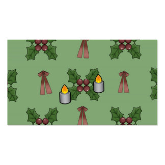 christmas pattern business cards