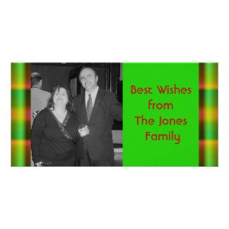 christmas pattern customized photo card