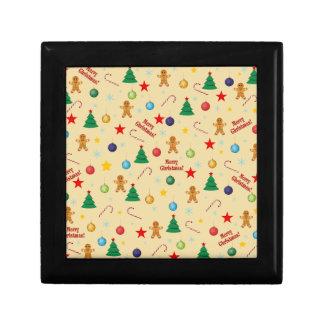 Christmas pattern gift box