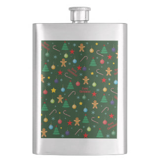 Christmas pattern hip flask