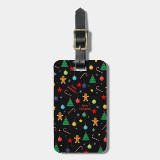Christmas pattern luggage tag