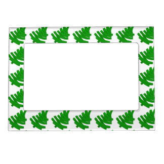 christmas pattern. magnetic picture frame