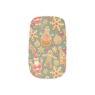 Christmas Pattern Minx Nail Art