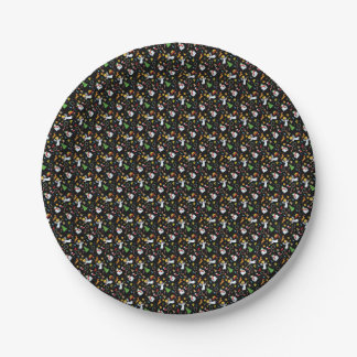 Christmas pattern paper plate