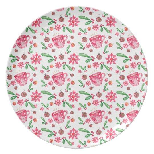 Christmas Pattern Plate