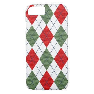 Christmas Pattern Red Green Argyle Phone Case