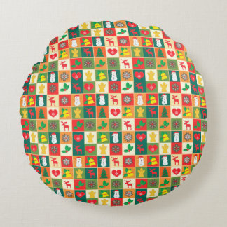 Christmas Pattern Round Cushion