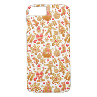 Christmas Pattern-Santa Claus Tree Rudolph Snowman iPhone 8/7 Case