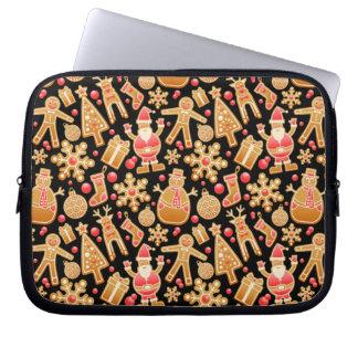 Christmas Pattern-Santa Claus Tree Rudolph Snowman Laptop Sleeve