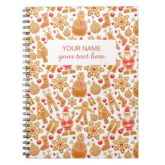 Christmas Pattern-Santa Claus Tree Rudolph Snowman Notebook