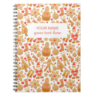 Christmas Pattern-Santa Claus Tree Rudolph Snowman Notebooks