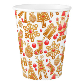 Christmas Pattern-Santa Claus Tree Rudolph Snowman Paper Cup