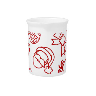 Christmas Pattern Seamless Background Pitcher
