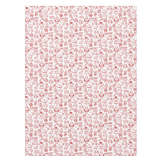 Christmas Pattern Seamless Background Tablecloth