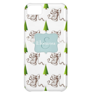 Christmas Pattern - Tree and Bell Cover For iPhone 5C