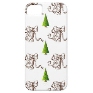 Christmas Pattern - Tree and Bell Case For The iPhone 5