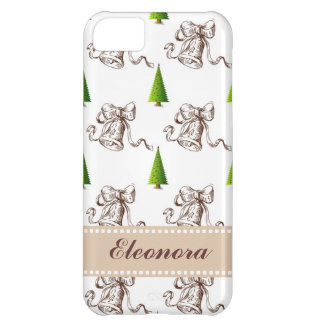 Christmas Pattern - Tree and Bell iPhone 5C Cover