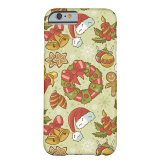 Christmas Pattern Vintage Style Barely There iPhone 6 Case