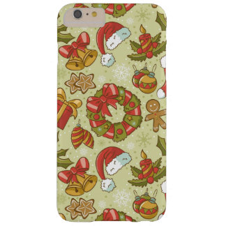 Christmas Pattern Vintage Style Barely There iPhone 6 Plus Case