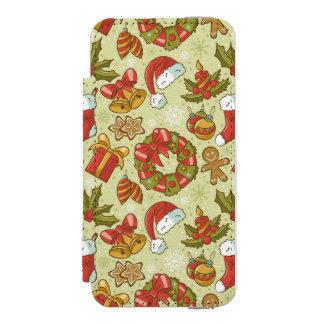 Christmas Pattern Vintage Style Incipio Watson™ iPhone 5 Wallet Case