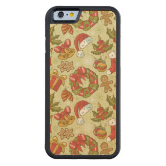 Christmas Pattern Vintage Style Maple iPhone 6 Bumper
