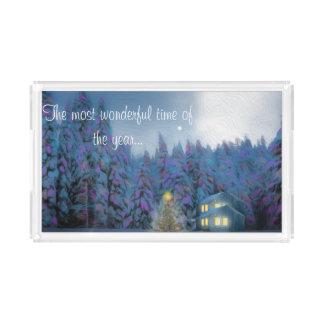 """""""Christmas Peace"""" Acrylic Tray"""