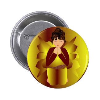Christmas Peace Angel Pinback Button