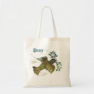 Christmas Peace Dove Canvas Bag