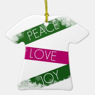 Christmas Peace, Love, Joy T Shirt Ornament