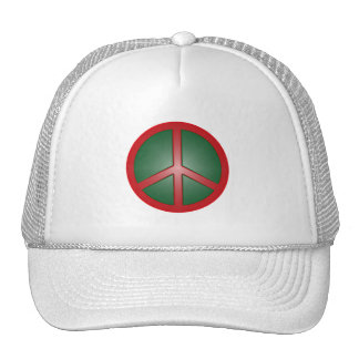 Christmas Peace Sign Trucker Hat