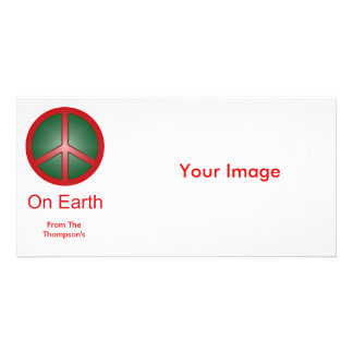 Christmas Peace Sign Picture Card