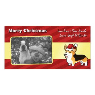 Christmas Pembroke Welsh Corgi Customized Photo Card