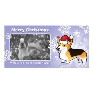 Christmas Pembroke Welsh Corgi Picture Card