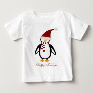 Christmas Penguin Baby Tshirt