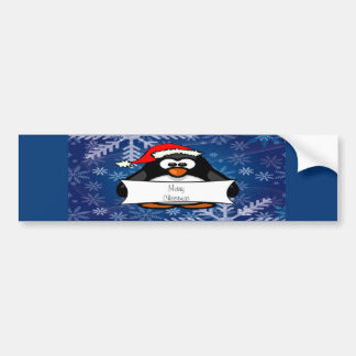 Christmas Penguin Bumper Sticker