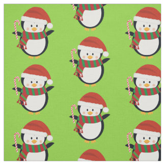 Christmas Penguin Fabric