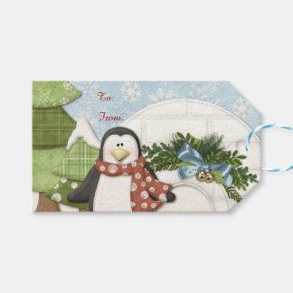 Christmas Penguin Gift Tags
