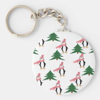 Christmas Penguin Muffin Key Ring