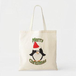 Christmas Penguin Shopping Bag