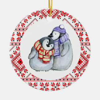 christmas penguin winter animals decoration bauble