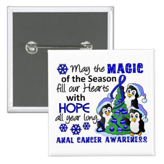 Christmas Penguins Anal Cancer Pins